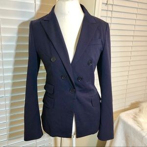Express Double Breasted Navy Blue Blazer Jacket